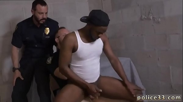 Police, Young gay, Office porn