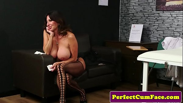 Mature sucks, Busty mature