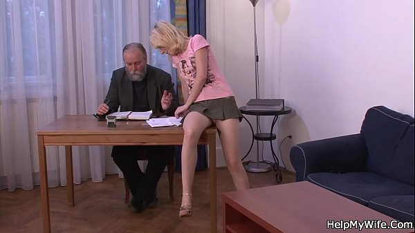 Blonde, Old fuck young, Old wife, Fucking old, Friend wife