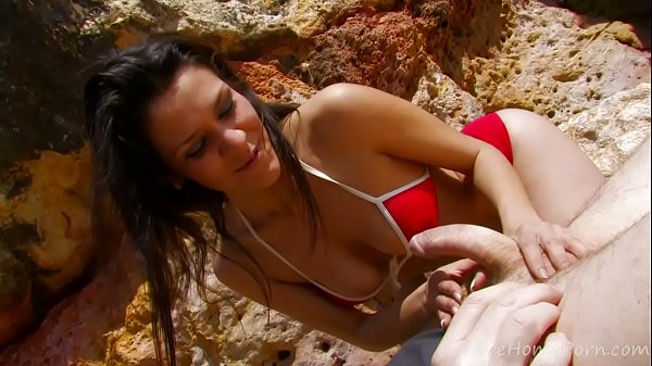 Brunette, Beach fuck