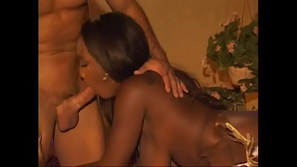 African, Ebony threesome, Black and white