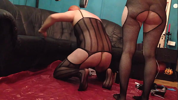 Crossdressers, German amateur, Strap on