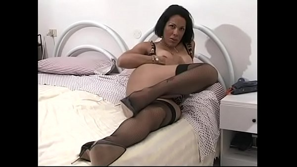 Huge toy, Shemale fucking, Shemale fuck, In bed