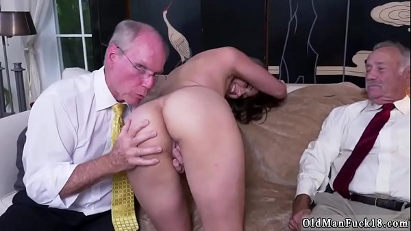 Grandpa, Young and old, Young creampie, Old creampie